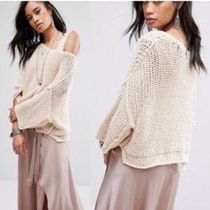 Free People Halo Sweater w Dolman Sleeves NWT